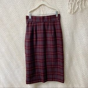 Christian Dior • Vintage Autumn Wool Pencil Skirt